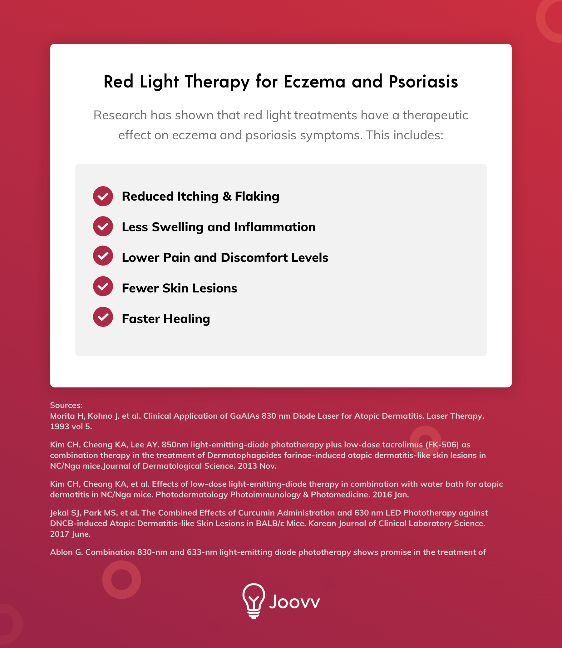 Red Light Therapy for Treating Eczema and Psoriasis Symptoms
