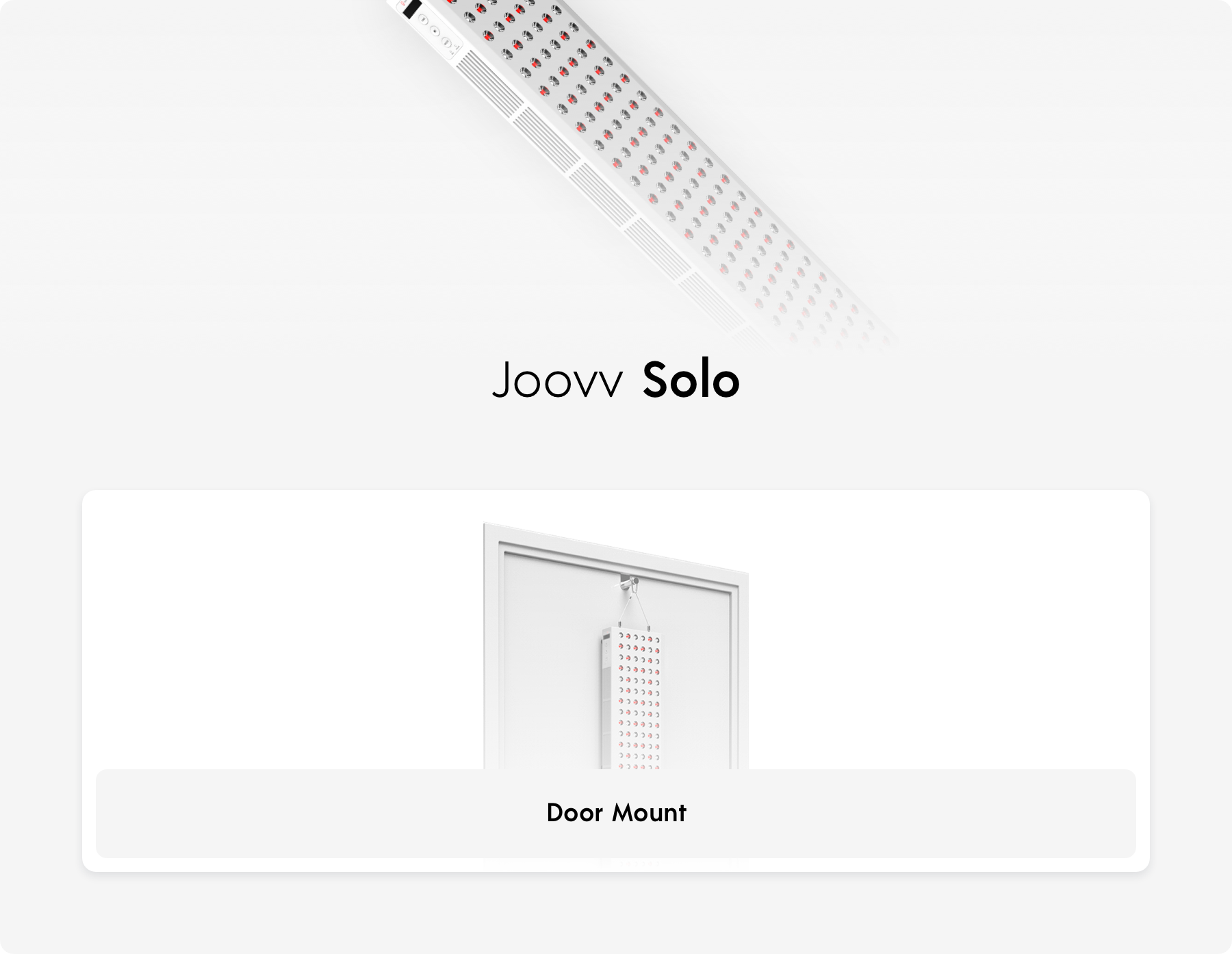 Joovv Solo Red Infrared LED Light Therapy