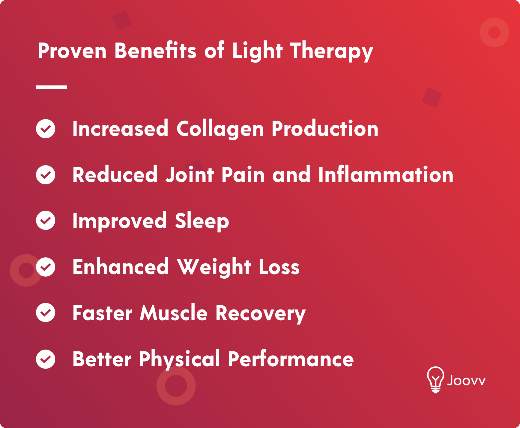 Proven Benefits of LED Red Light Therapy