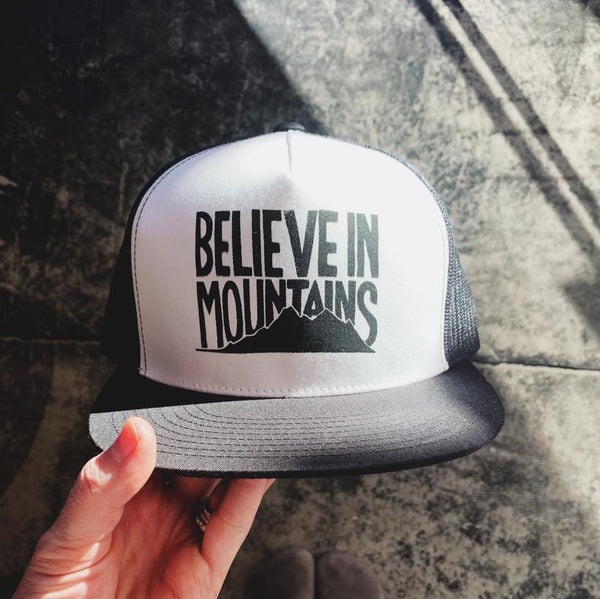 Believe In Mountains Structured Trucker Hat
