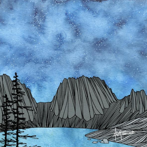 Colchuck Night: Enchantments, Wa Art Print