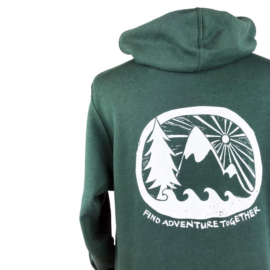 Find Adventure Together Unisex Zip Hoodie