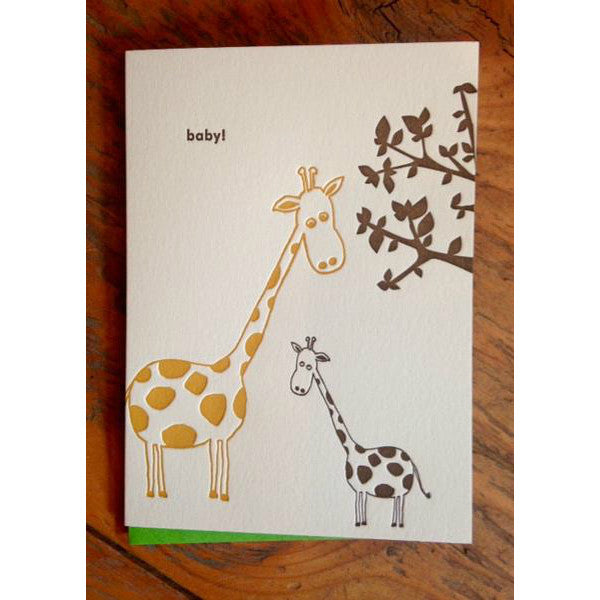 New Baby Letter Press Greeting Card