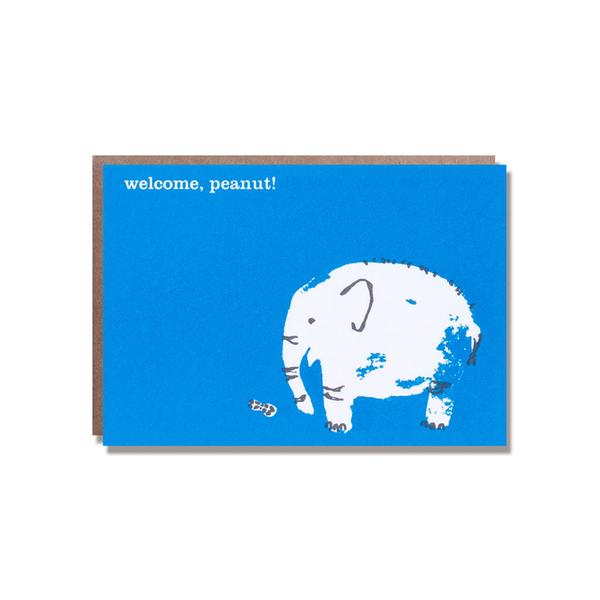 Welcome, Peanut! Letter Press Greeting Card