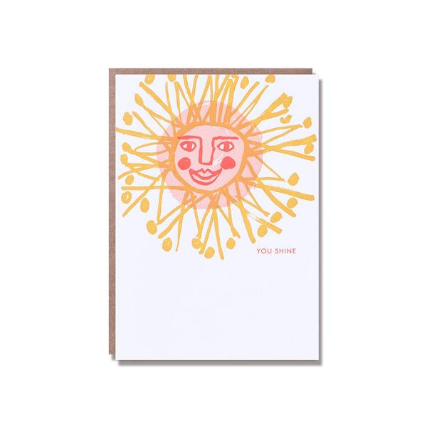 You Shine Letter Press Greeting Card