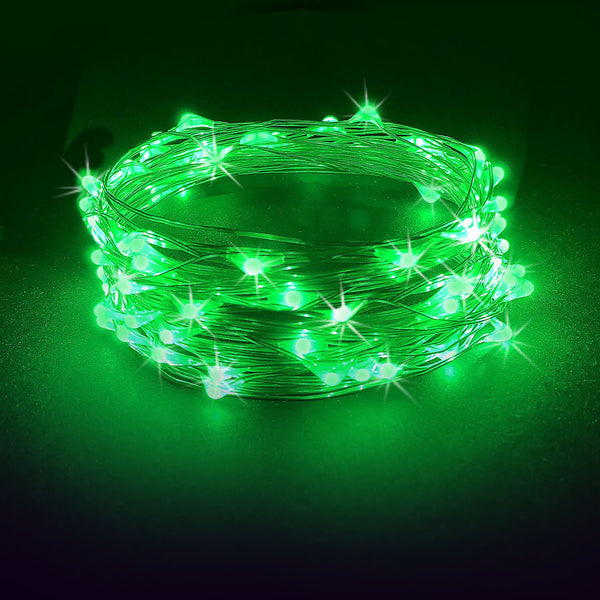 Rtgs 60 Green Color Led String Lights Batteries Operated