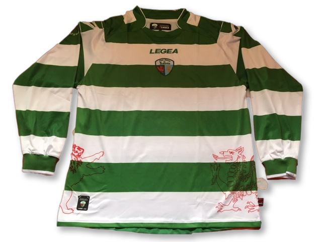 green & white legea The New Saints 2010-11 Long Sleeved Home football  Shirt
