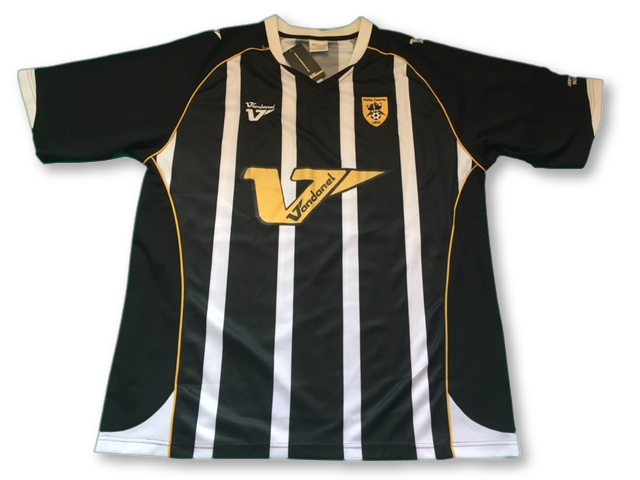 black & white vandanel Notts County 2008-09 Special Edition (Jimmy Sirrel) Home football Shirt