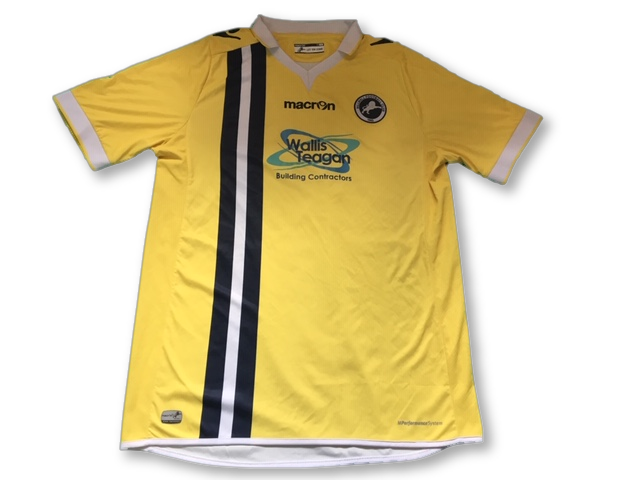 yellow macron Millwall 2015-16 3rd football Shirt