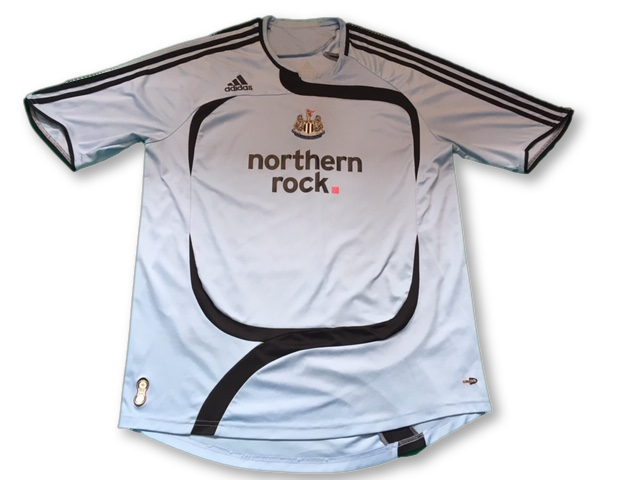 sky blue adidas Newcastle United 2007-08 Away football Shirt
