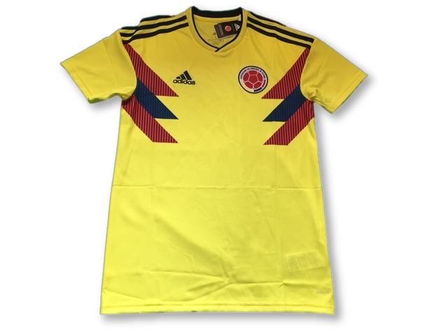 yellow adidas Colombia 2018 Home football Shirt