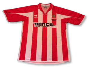 red & white errea Cheltenham Town 2006-08 Home football Shirt