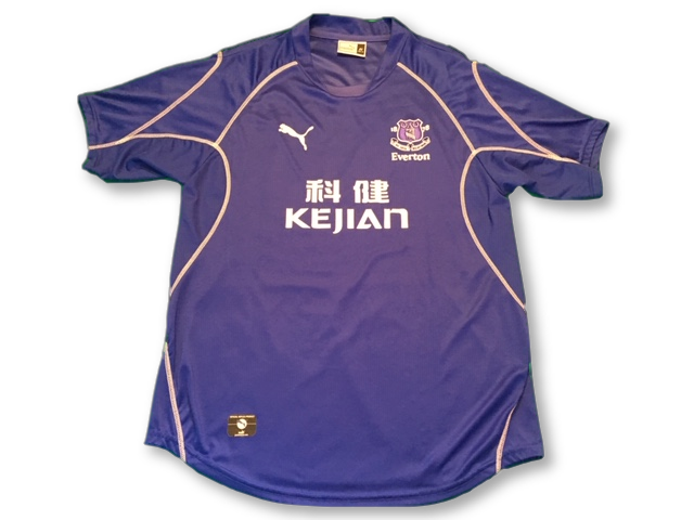 blue puma Everton 2002-03 Home football Shirt