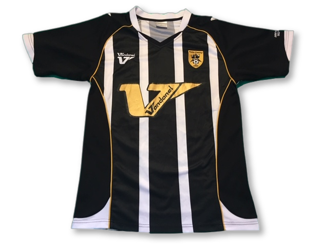 black & white vandanel Notts County 2008-09 Jimmy Sirrel - Special Edition Home football Shirt