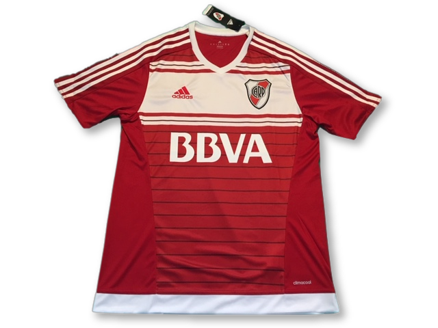 red adidas River Plate 2016-17 Away football Shirt
