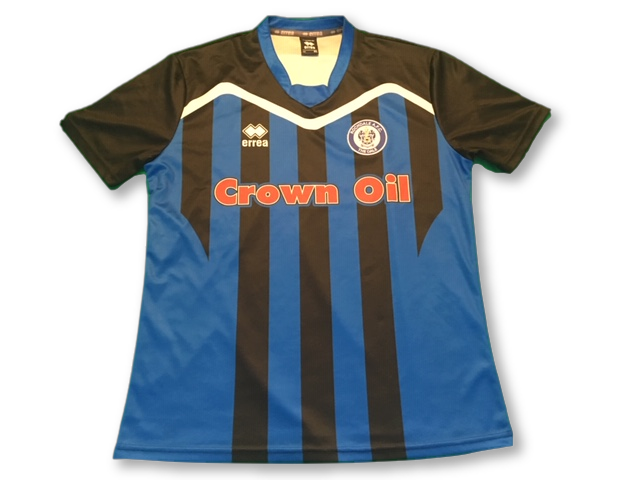 blue & black Rochdale 2016-17 Special Edition Home football Shirt