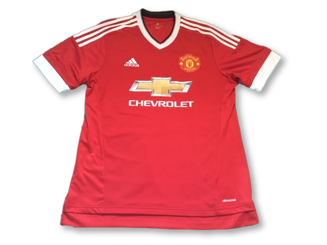 red adidas Manchester United 2015-16 Home football Shirt