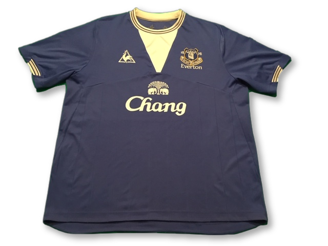 blue le coq sportif Everton 2009-10 Home football Shirt