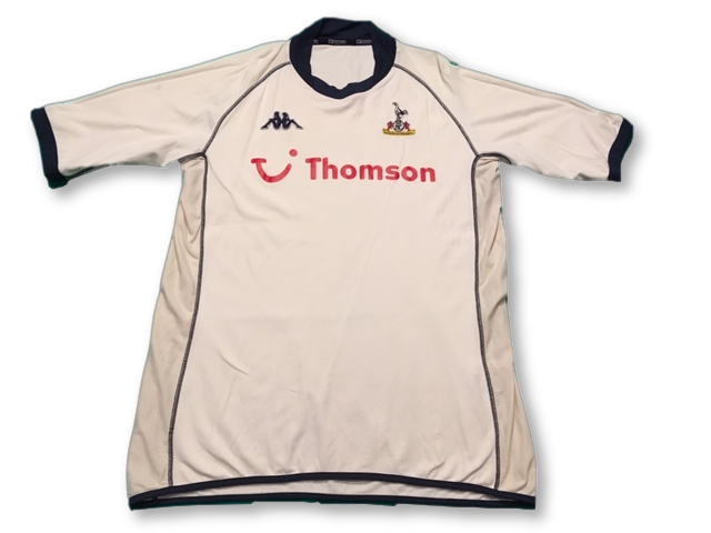 white kappa Tottenham Hotspur 2002-04 Home football Shirt