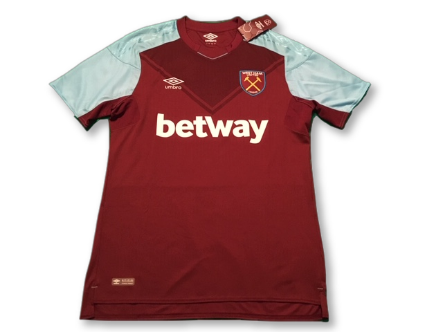 claret umbro West Ham United 2017-18 Home football Shirt