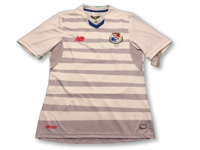 white new balance Panama 2015 Away football Shirt