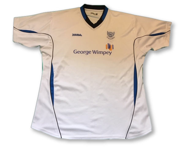 white xara St. Johnstone 2006-07 Away football Shirt