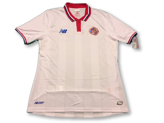 white new balance Costa Rica 2015 Away football Shirt