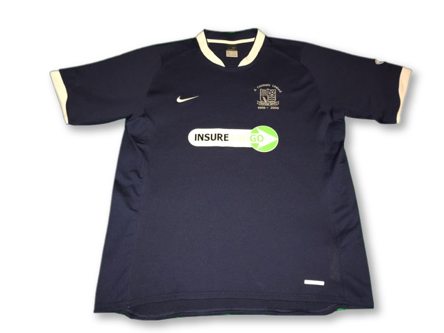 navy nike Southend United 2006-07 Home football Shirt