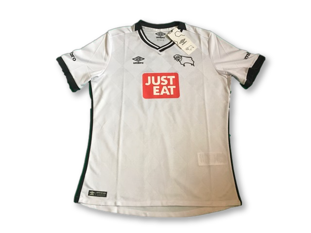 white umbro Derby County 2015-16 Home football Shirt