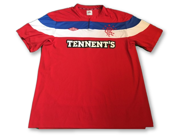 red umbro Rangers 2011-12 Away football Shirt