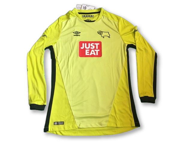 yellow umbro Derby County 2016-17 Goalkeepers Football Shirt