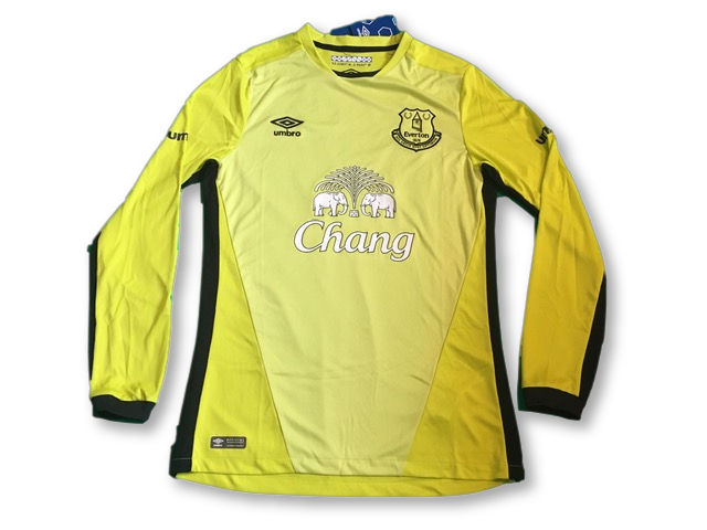 yellow umbro Everton 2016-17 Goalkeepers Football Shirt