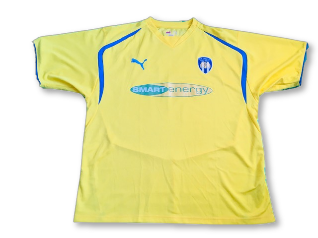 yellow puma Colchester United 2008-09 Away Football Shirt
