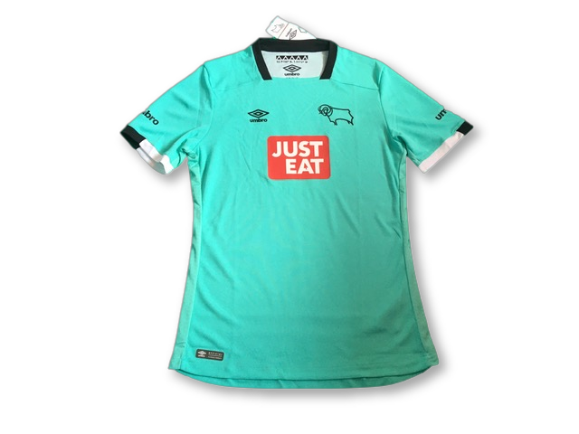 marine green umbro Derby County 2016-17 3rd Football Shirt