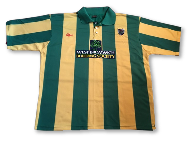 green & yellow West Brom 2001-03 Away Football Shirt