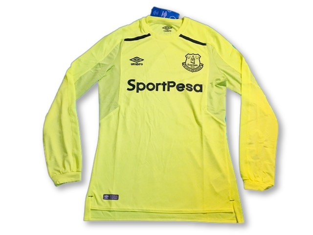 yellow umbro Everton 2017-18 Goalkeepers Football Shirt