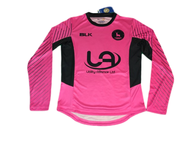 pink BLK Hartlepool United 2018-19 Goalkeepers Football Shirt