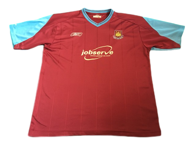 claret reebok West Ham United 2003-05 Home Football Shirt