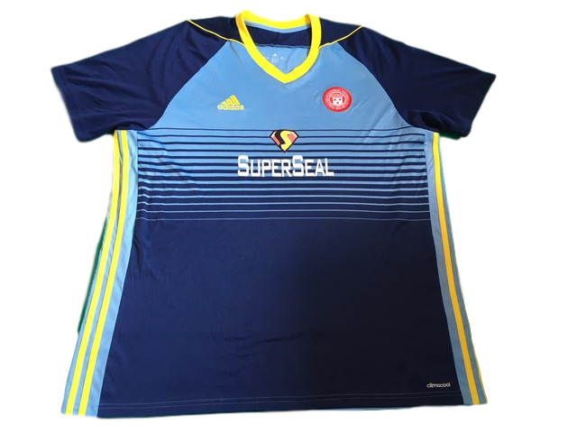 sky blue & navy adidas Hamilton Academical 2017-18 Away Football Shirt