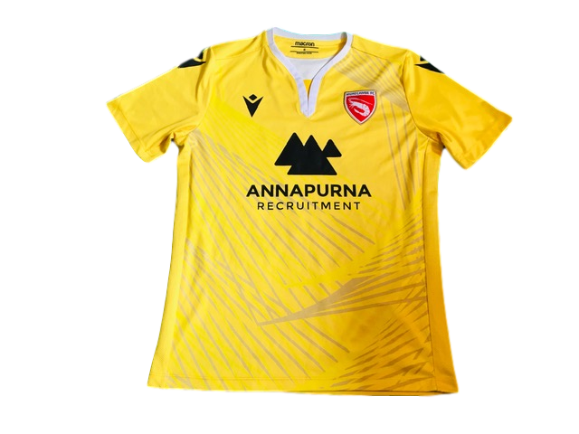 yellow macron Morecambe 2019-20 Away Football Shirt