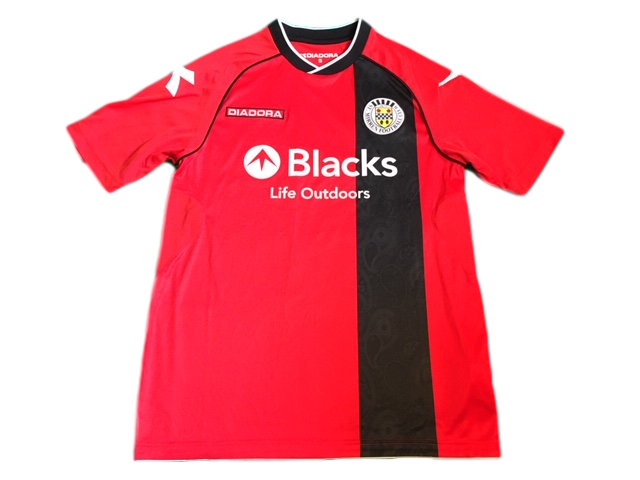 red diadora St. Mirren 2013-14 Away Football Shirt