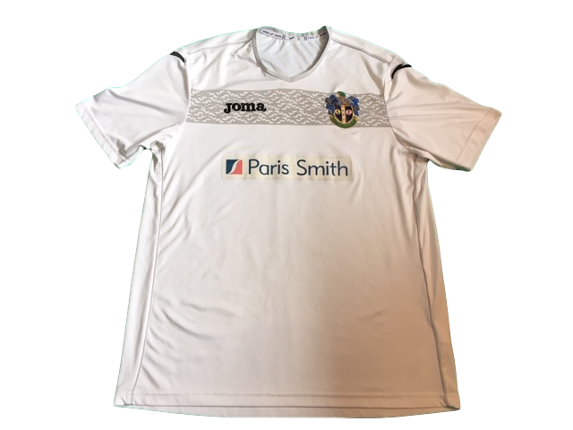 White joma Sutton United 2013-14 Away Football Shirt