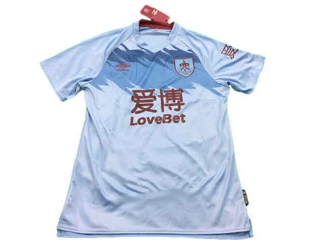 sky blue umbro Burnley 2019-20 Away Football Shirt