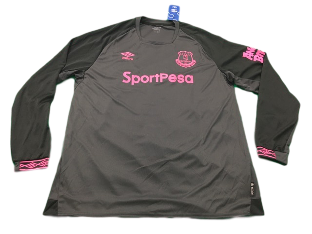 grey umbro Everton 2018-19 Away Football Shirt
