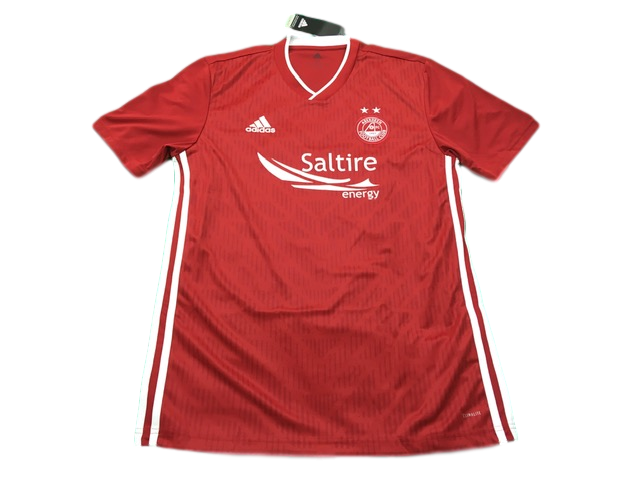 red adidas Aberdeen 2019-20 Home Football Shirt