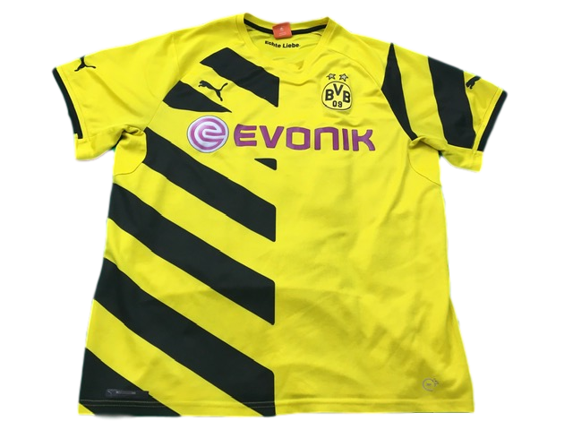 yellow puma Borussia Dortmund 2014-15 Home Football Shirt