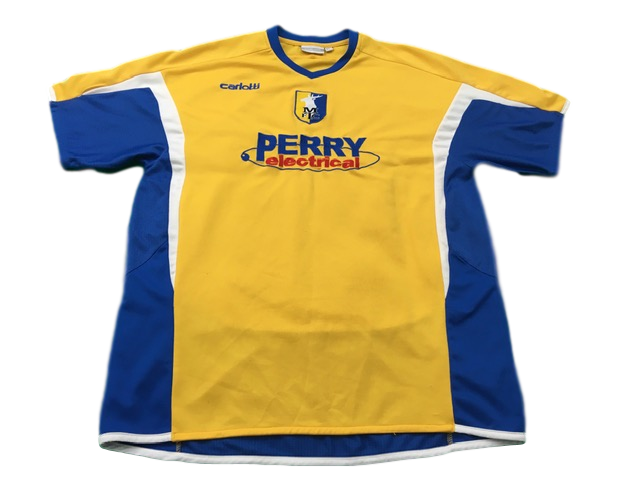 yellow carlotti Mansfield Town 2006-07 Home Football Shirt