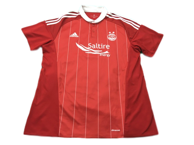 red adidas Aberdeen 2016-17 Home Football Shirt