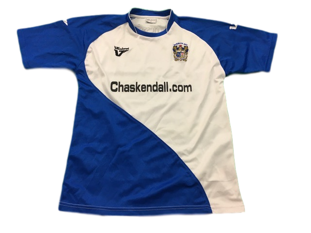 white vandanel Barrow AFC 2010-11 Home Football Shirt