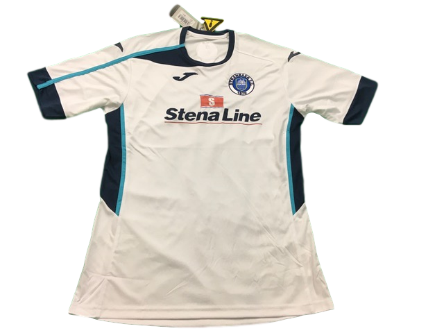 white joma Stranraer 2019-20 Away Football Shirt